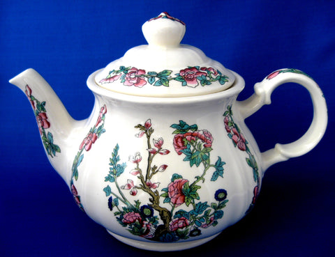 Teapot Sadler Indian Tree Indian Peony Large Vintage English 1960s