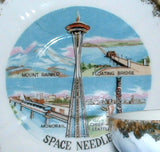Seattle Space Needle Souvenir Cup and Saucer 1960s World's Fair