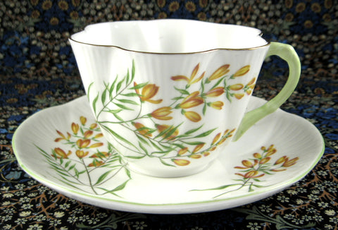 Shelley Golden Broom Dainty Cup and Saucer 1964 To 1966
