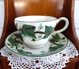 Napoleon Ivy Cup And Saucer Wedgwood 1965 Anniversary Reissue Historic 1815 Pattern