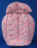 English Tea Cozy Pink Floral Padded Muff Style Handmade 1960s