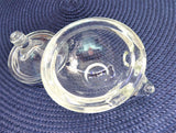 Crystal Figural Lidded Jam Dish Anchor Hocking 1970s Glass Trinket Dish