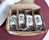Dogwood English Bone China Napkin Rings Set Of 4 1970s Empress Hotel Victoria