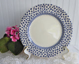Dinner Plate Blue Provence Chintz Border Plate Blue Transferware Ironstone EIT 1970s Chip