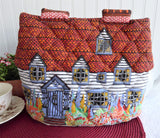 English Manor House Padded Tea Cozy 1970s Frances Worters Cottage Garden