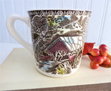 Older Friendly Village Mug Johnson Brothers Covered Bridge Ceramic 9 Oz