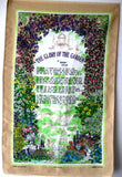 Glory Of The Garden Tea Towel Rudyard Kipling Poem Dish Towel 1970s
