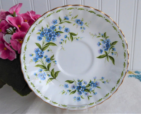 Saucer only July Forget-Me-Nots Royal Albert Flower Of The Month 1970s