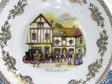 Decorative Plate Old Coach House York 1970s England Bone China 9.5 Inch Gainsborough