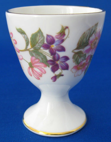 Paragon England Eggcup Honeysuckle Roses Single Pedestal Bone China 1970s