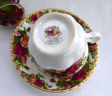 Cup And Saucer Old Country Roses Royal Albert Seconds English Made 1974-1992