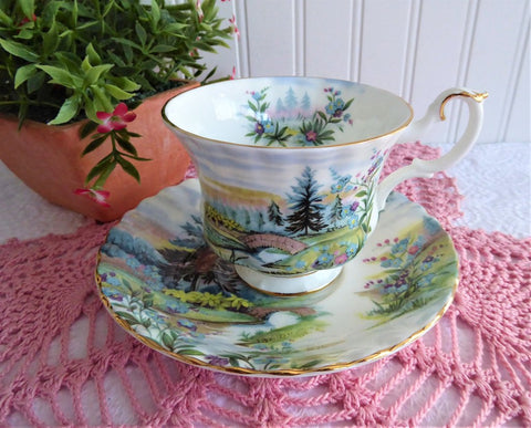 Dovedale Cup And Saucer Royal Albert Country Scenes English Lakes 1970s Landscape