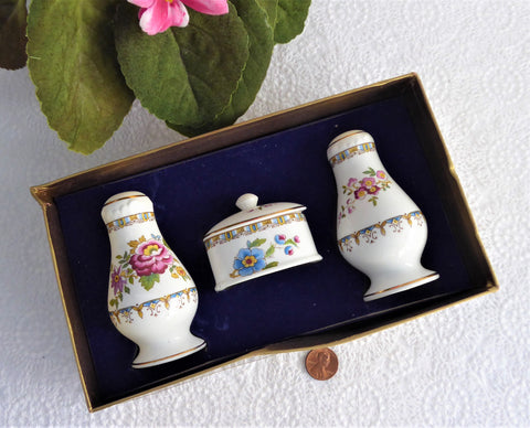 Royal Grafton Malvern 4 Piece Salt Pepper Mustard 1970s Cruet Set Condiments