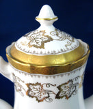 Coffeepot Royal Tuscan Fancy Embossed 22k Gold Encrusted Grape Leaves 1970s