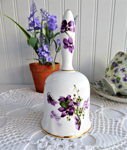 Hostess Bell Hammersley Victorian Violets 1970s English Bone China