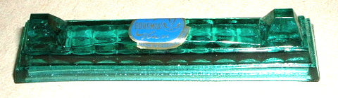 Kniferest Gorgeous Green Lead Crystal Bohemian Czech Republic Cutlery Holder