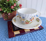 Aynsley Cottage Garden Cup And Saucer Flowers Butterflies Bone China Tea Party