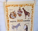 Tea Towel Bristol Zoo Gardens England Penguins Tiger Dish Towel