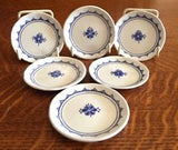 Butter Pats 6 Franciscan Denmark Blue And White English Caddy 1980s