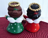 Salt And Pepper Shakers Christmas Angel Hallmark Orig Box Holiday 1980s