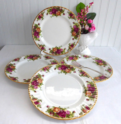 ... Royal Albert Old Country Roses Set Of 4 Salad Plates Made In England 1980s Tea Plate ... & Royal Albert Old Country Roses Set Of 4 Salad Plates Made In England ...