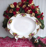 Royal Albert Old Country Roses Large Oval Platter 13 Inch Serving Plate