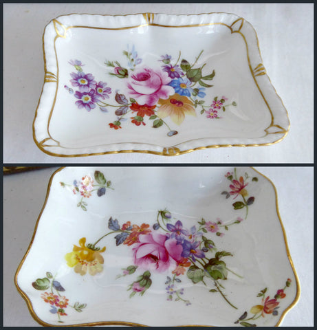 Dish Pair Royal Crown Derby Derby Posies 1980s Ring Dish Trinket Teabag Caddy