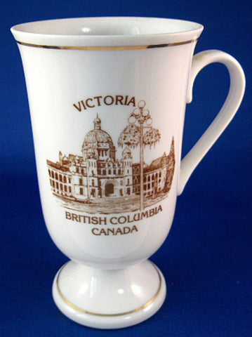Victoria British Columbia Dogwood Tall Mug Bone China Parliament