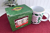 Christmas Mug Holly Jesus Is The Reason 1980s Retro Cocoa Tea Coffee Holiday