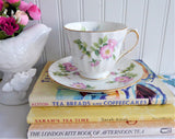 Duchess Pink Wild Rose Cup and Saucer English Bone China 1980s Dog Roses