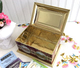 English Coaching Scenes Tea Tin Red And Gold Treasure Chest Tin Canister 1960s Biscuit Tin