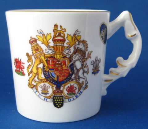 Royal Wedding Mug Charles And Diana Aynsley With Sticker 1981 Royal Commemorative