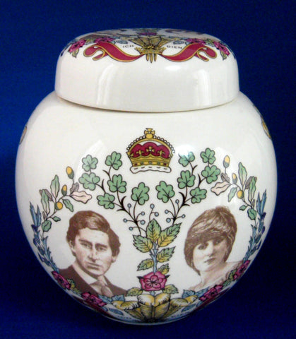 Tea Caddy Charles And Diana Royal Wedding Masons Ceramic 1981