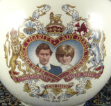 Sadler Tea Caddy Charles And Diana Royal Wedding Ceramic 1981 Tea Canister