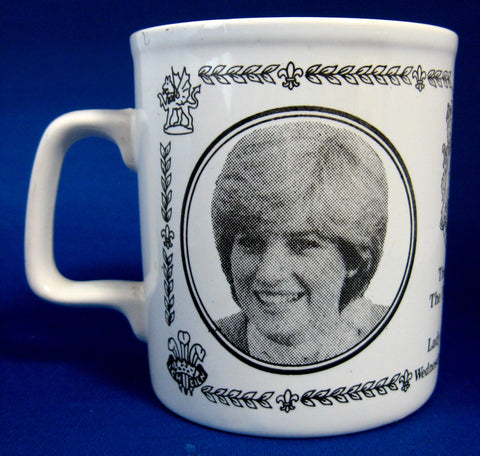 Souvenir Royal Wedding Mug Charles And Diana Ceramic 1981 Photos