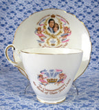 Teacup Birth Of Prince William Charles Diana Cup And Saucer 1982 Bone China