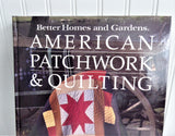 Book American Patchwork Quilting Guide Hardback 1985 Quilting Patterns Quilting Primer Sewing