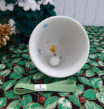 Green Lladro Christmas 1988 Bell Santa Sleigh Reindeer Christmas Ornament Holiday Decor