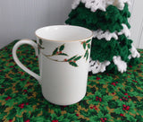 Boehm Mug Holly Design 1989 England Christmas Tea 40th Anniversary Boehm Porcelains