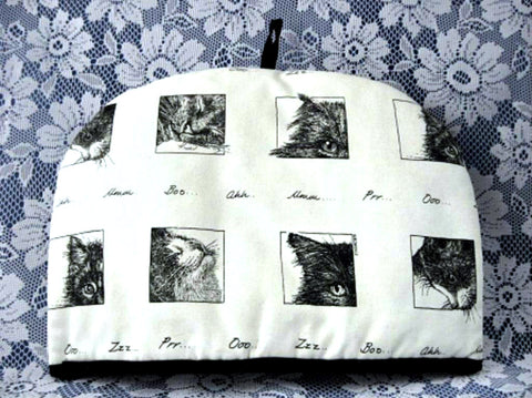 Cat Tea Cozy Artist Drawings Large Padded Bob Bowdige Baytree USA