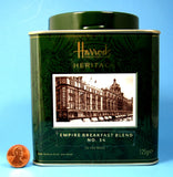 Harrods Tea Tin Signature Heritage Empire Breakfast Blend 34 Tea Caddy