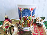 Dunoon Christmas Mug Sue Scullard Snowy English Village