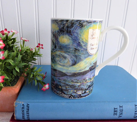 Dunoon Mug Van Gogh Starry Night Stoneware 1990s Art Old Stock