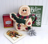 Teapot Christmas Gingerbread Boy Large Hand Painted Holiday Ceramic