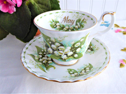 May Lily Of The Valley Cup And Saucer Royal Albert Flower Of The Month 1970s