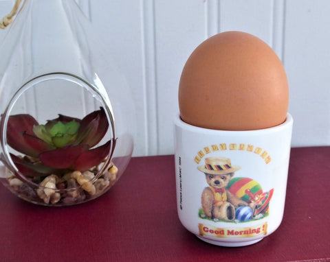 Teddy Tum Tum Egg Cup Teddy Bear 1990s English Amazing Adventures Character Eggcup