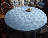 Blue Floral Damask Tablecloth 70 By 52 Silky Dinner Party Transferware Coordinate Tea Party