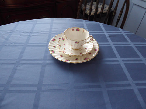 Oval Blue Window Pane Tablecloth 80 By 60 Silky Dinner Party Wedgwood Blue Tea Party
