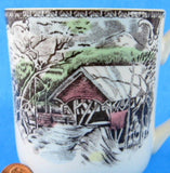 Friendly Village Mug Johnson Brothers Covered Bridge Ceramic 9 Oz
