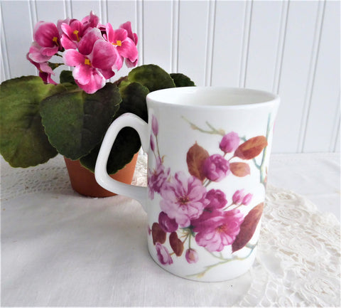 Pretty Pink Wild Roses Mug Roy Kirkham Cambridge Collection 1990s Bone China